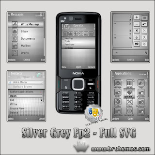 Br Themes Silver Grey – Full SVG fp2 phone