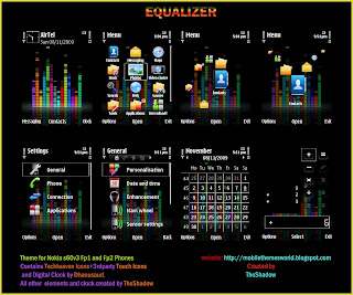 Equalizer Nokia S60v3 Fp1,Fp2 Theme by TheShadow