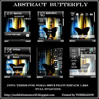 Abstract Butterfly NokiaS60v2 theme by TheShadow