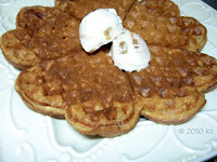oatmeal waffles with ice cream