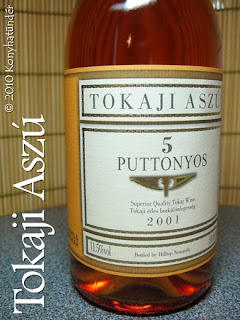 Tokaji Aszu wine from Tokaj wine district of Hungary