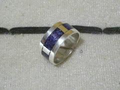 anillo en plata  mosaico