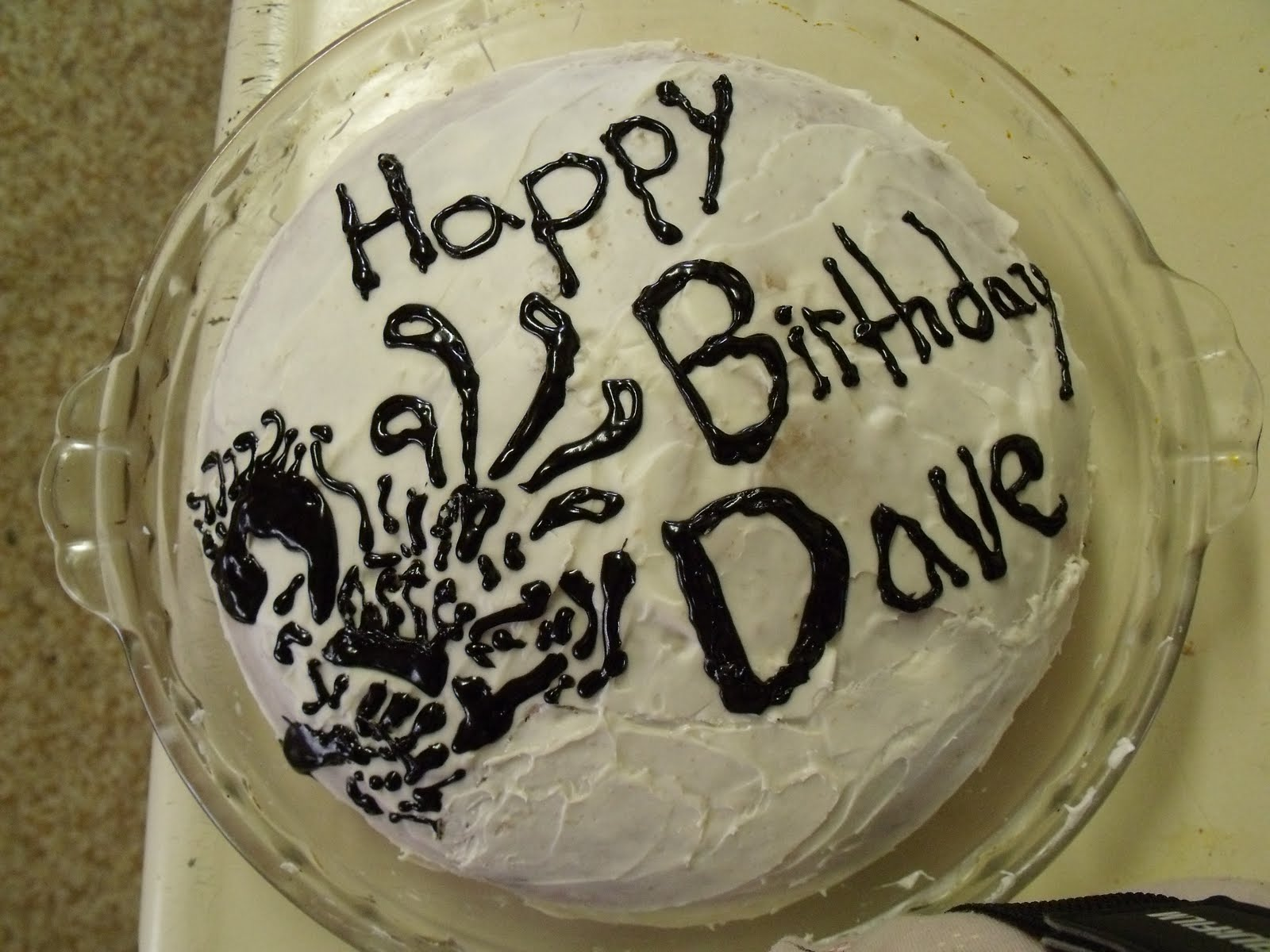 Dave! Crazy aren't I? I decorated it with one of Dave's Tattoo's....