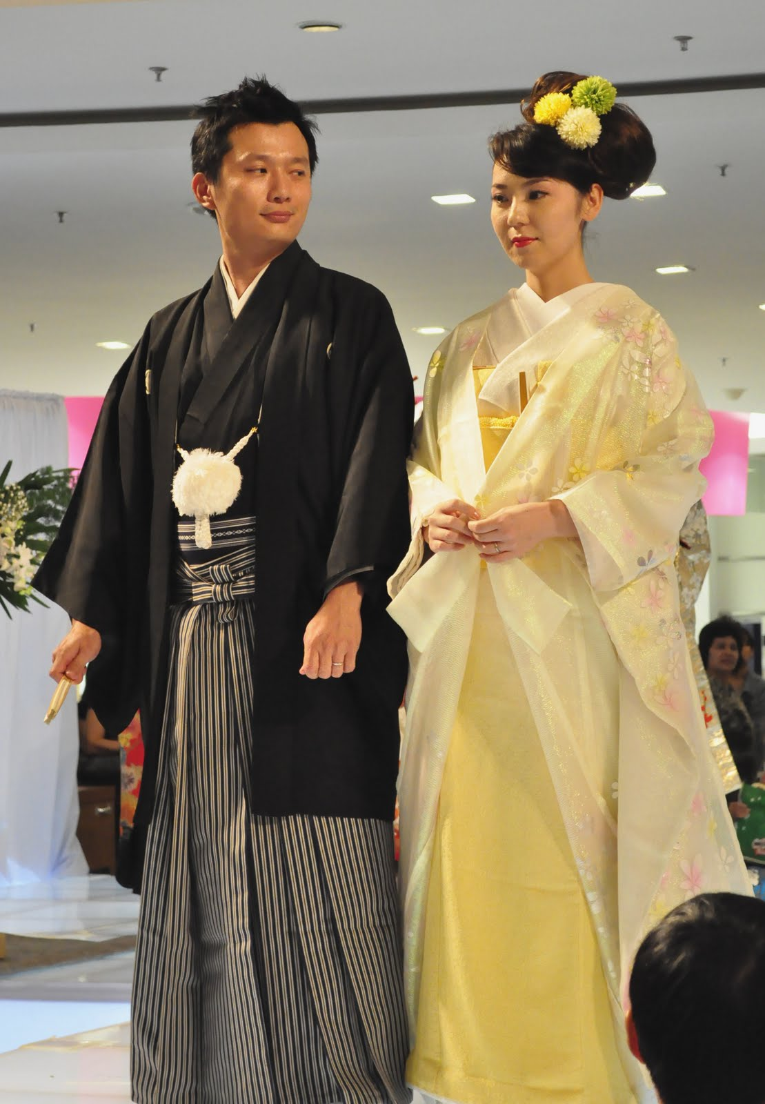 Japanese wedding dress yellow wedding dress which