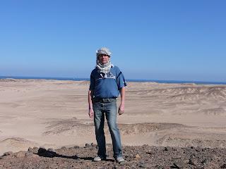 Сопка с видом на Красное море. Египет, Хургада