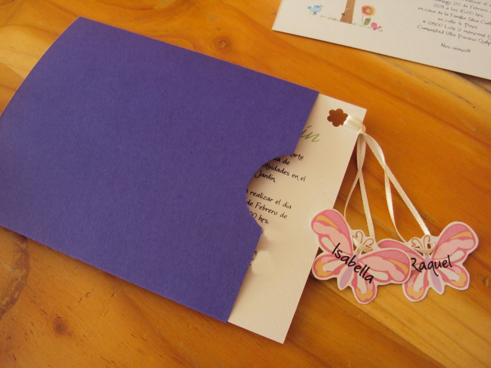 Villa caramelo tarjetas de invitaci n fiesta ni os for Como hacer un sobre rectangular