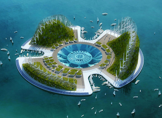 Architecture Modern Floating Ecopolis Lilypad Architecture Design