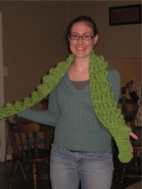 Peaches N Purls Elins Mystery Alligator Scarf