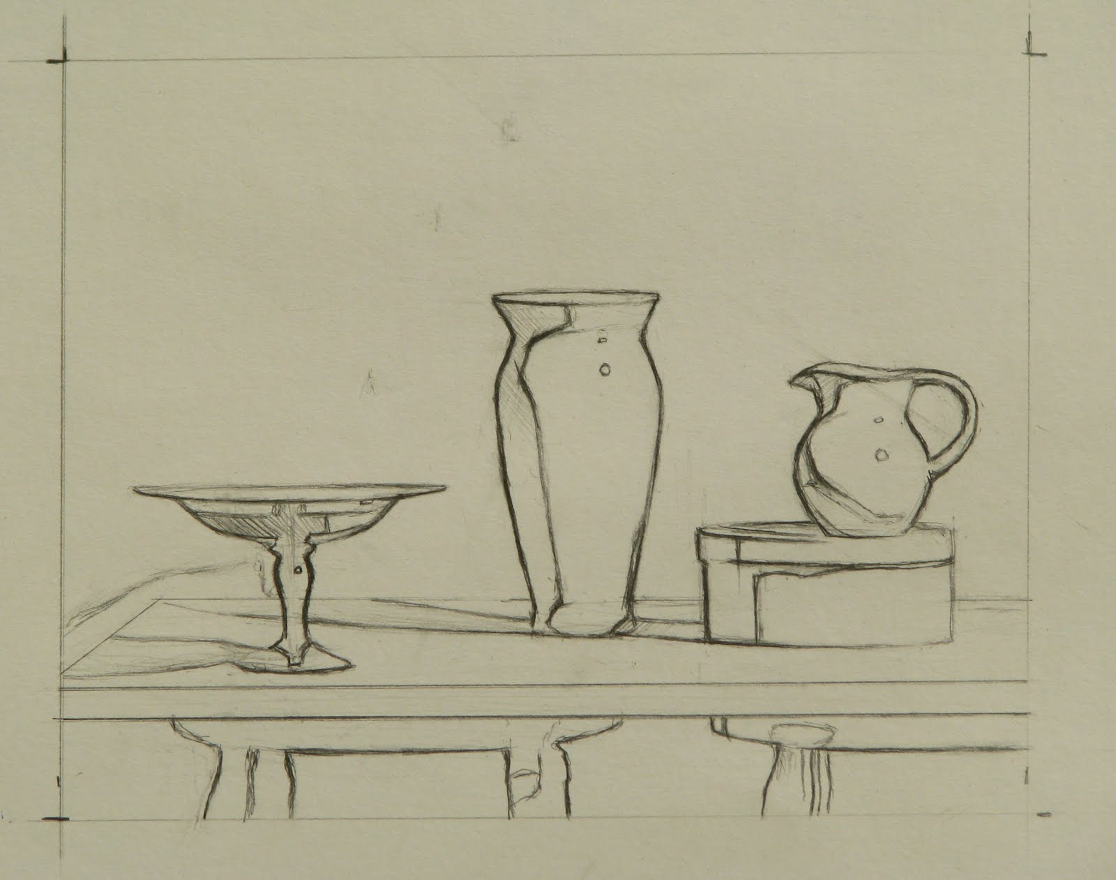 Drawing done for my still life class at laa the still life will have