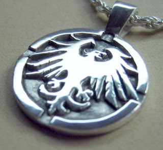 Custom made sterling silver pendant