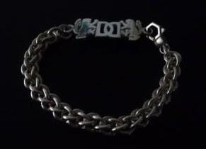 Custom sterling silver bracelet part made by Payne's Custom Jewelry