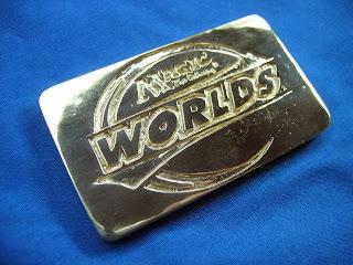 Worlds custom logo gold bar by jewelry designer Tony Payne