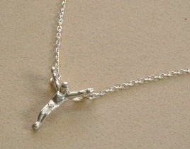 Handmade sterling silver Jesus pendant by Payne's Custom Jewelry