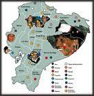 MAPA DE NACIONALIDADES INDIGENAS DEL ECUADOR