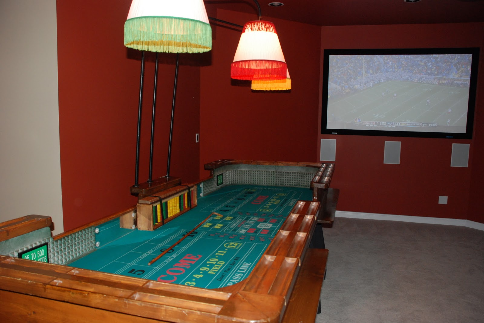 Casino party setting the mood for Las vegas homes with basements