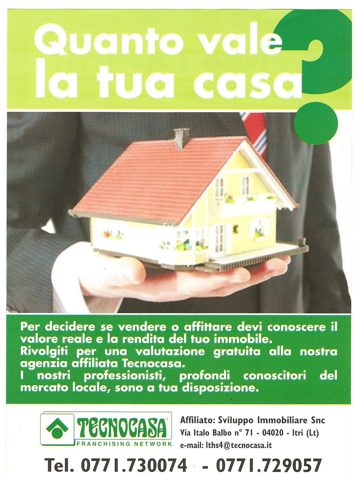 Tecnocasa affiliato itri sperlonga for Virtuale costruisci la tua casa