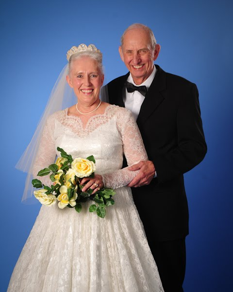 Yondell and Larry came to us for a 50th wedding anniversary portrait and