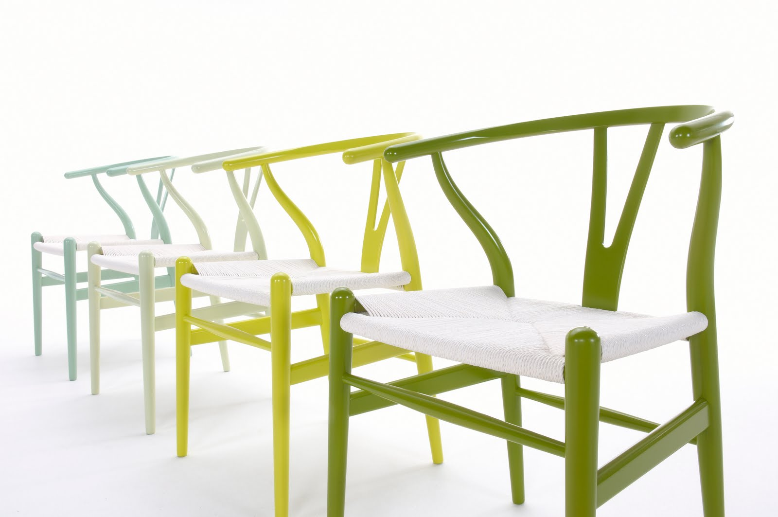 whisbone chair citrus