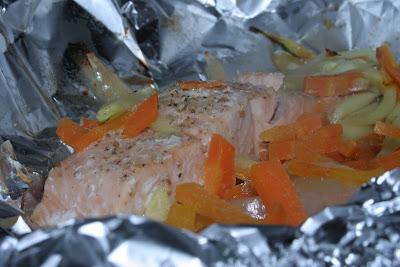 La recette du Saumon et ses Légumes en Papillotte