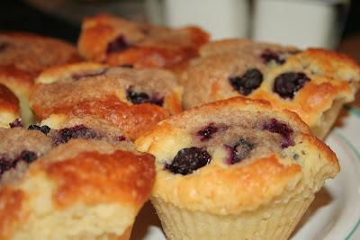 La recette des Muffins aux Myrtilles