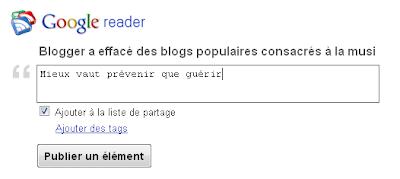buzz button share via google reader
