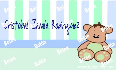 """Botón """"Delicados Eventos"""": ¡Tarjetitas de presentación Baby GRATIS!"""