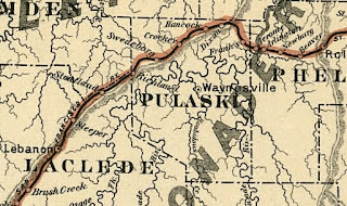 Less than a decade later, the town of Woodend had been renamed Swedeborg.  1888 Commissioners Official Railway Map of Missouri