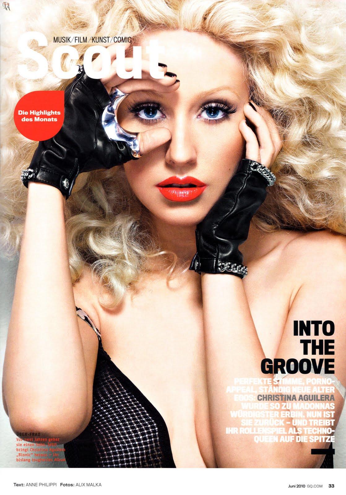 Christina Aguilera nue en Une de GQ