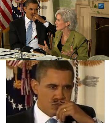 Barack Obama clown mustache