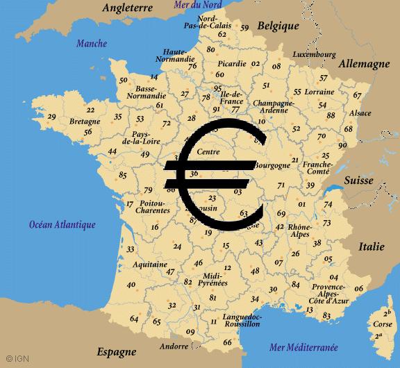Les régions françaises les plus endettées