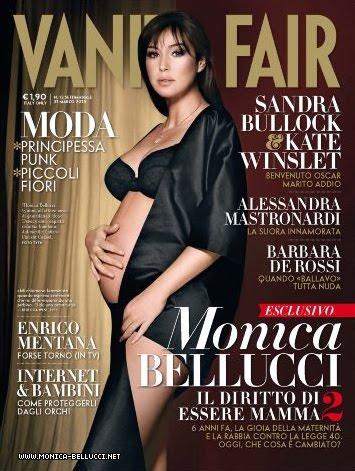 Monica Bellucci sexy enceinte Vanity Fair