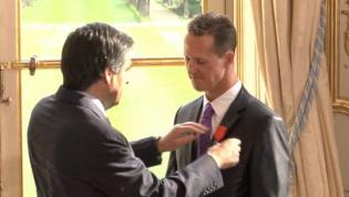Michael Schumacher décoré de la légion d'honneur