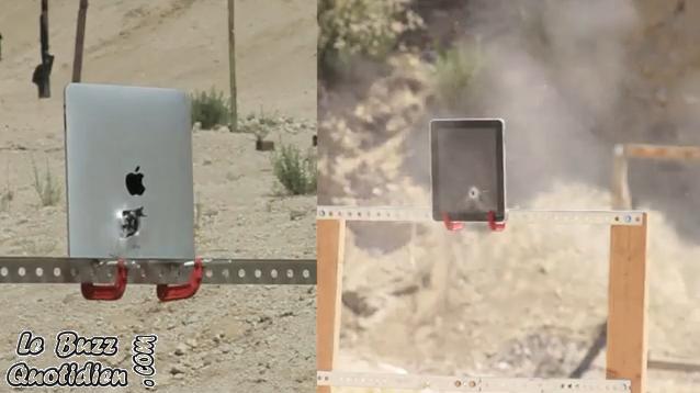 Ipad détruit à la mitraillette (vidéo)