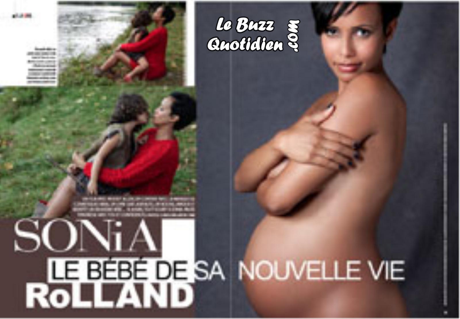 Sonia Rolland nue enceinte Gala