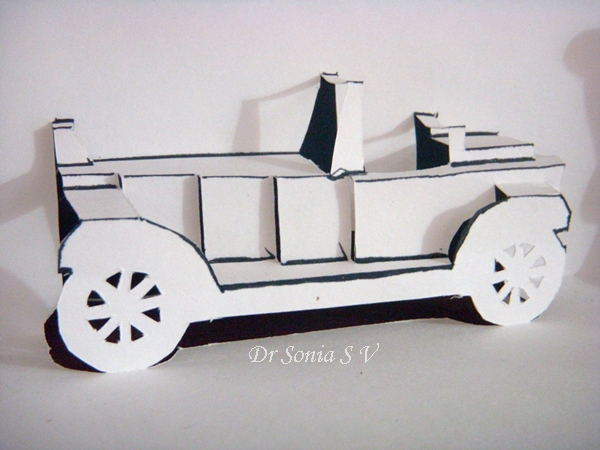Pop Up Vehicles : Cards crafts kids projects pop up card kirigami car