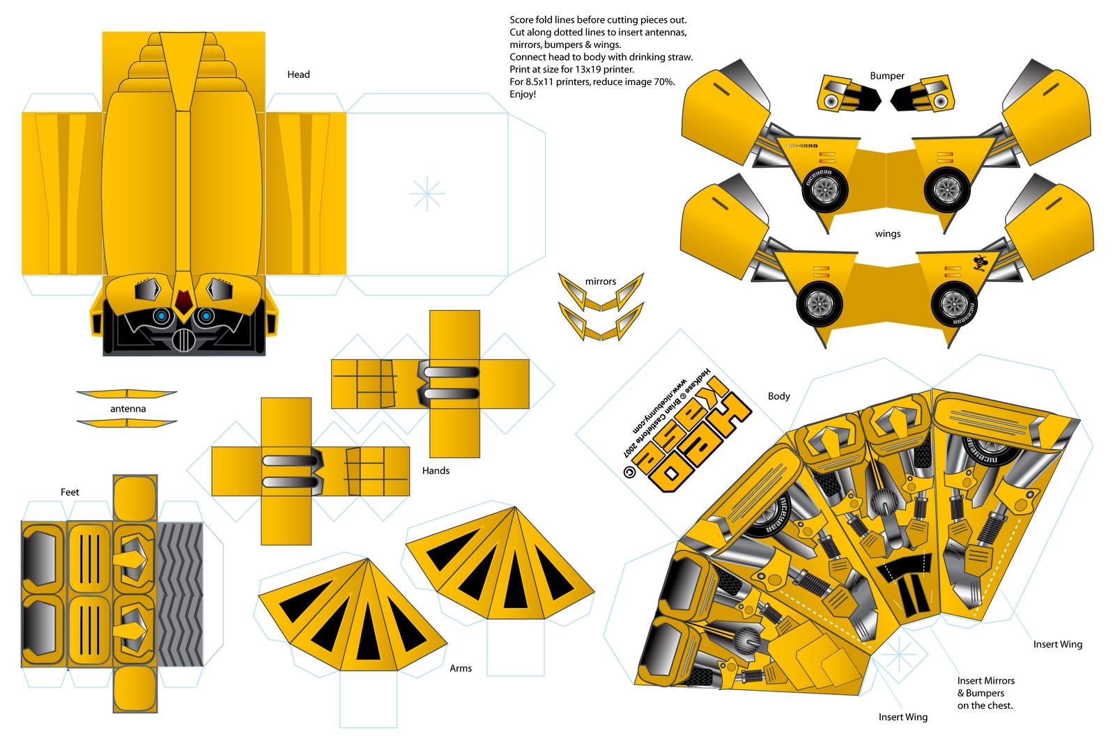 Как сделать костюм трансформера из бумаги