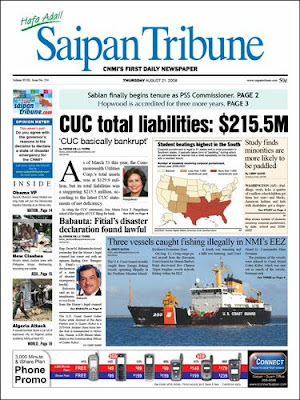 cutter kakui saipan tribune front page