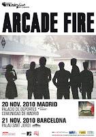 Conciertos de arcade fire en su gira española.Conciertos madrid y Barcelona. Fechas y entradas