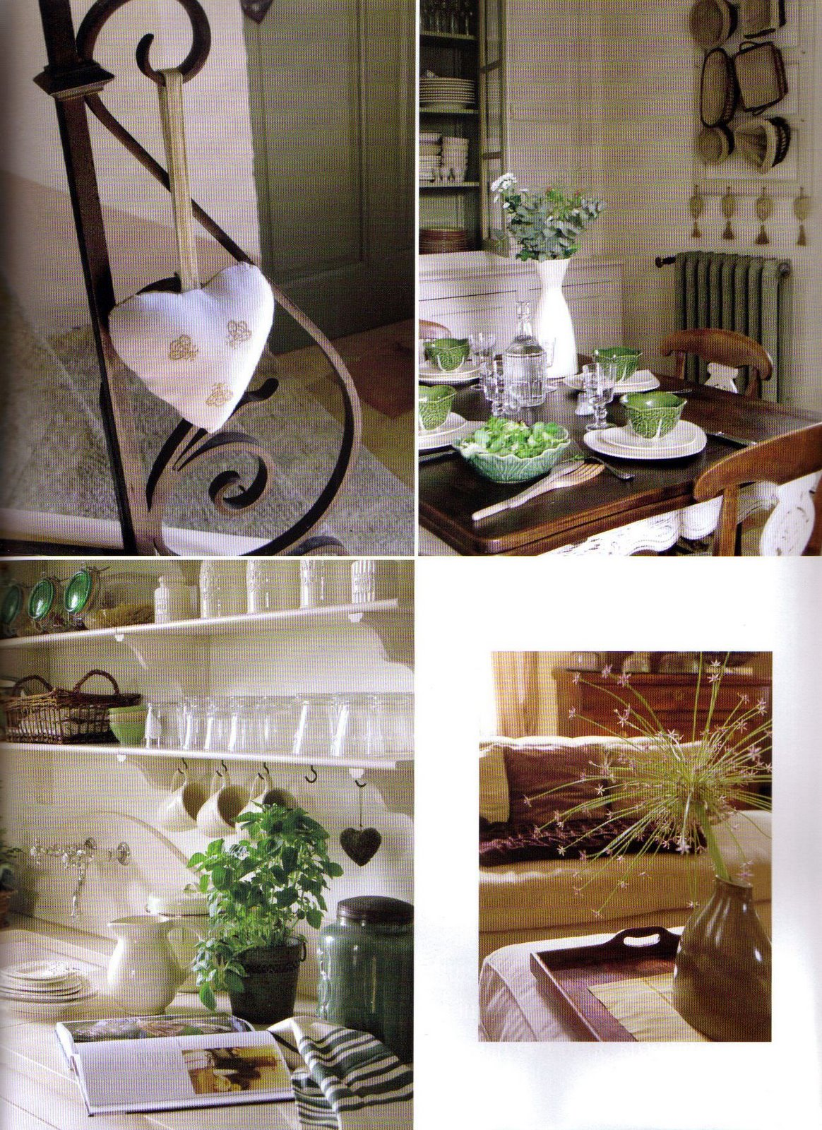 Cuisine et détails du salon maison d'hôtes un Cœur très Nature
