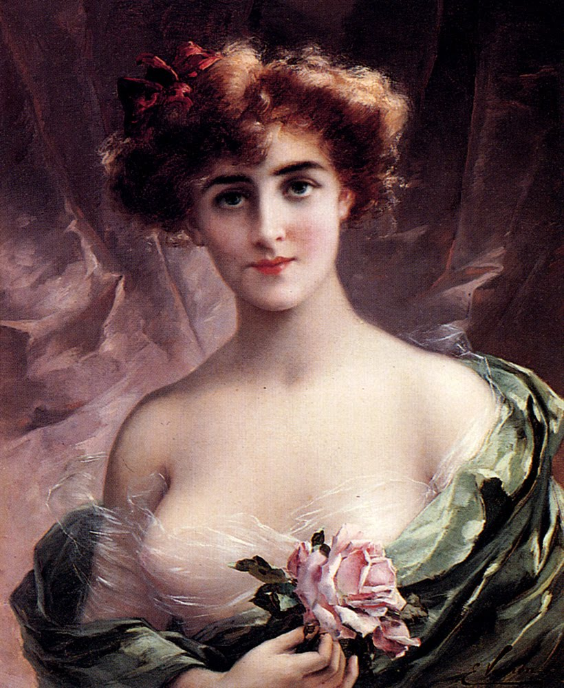 La  FEMME  dans  l' ART - Page 7 Emile+Vernon,+The+Pink+Rose