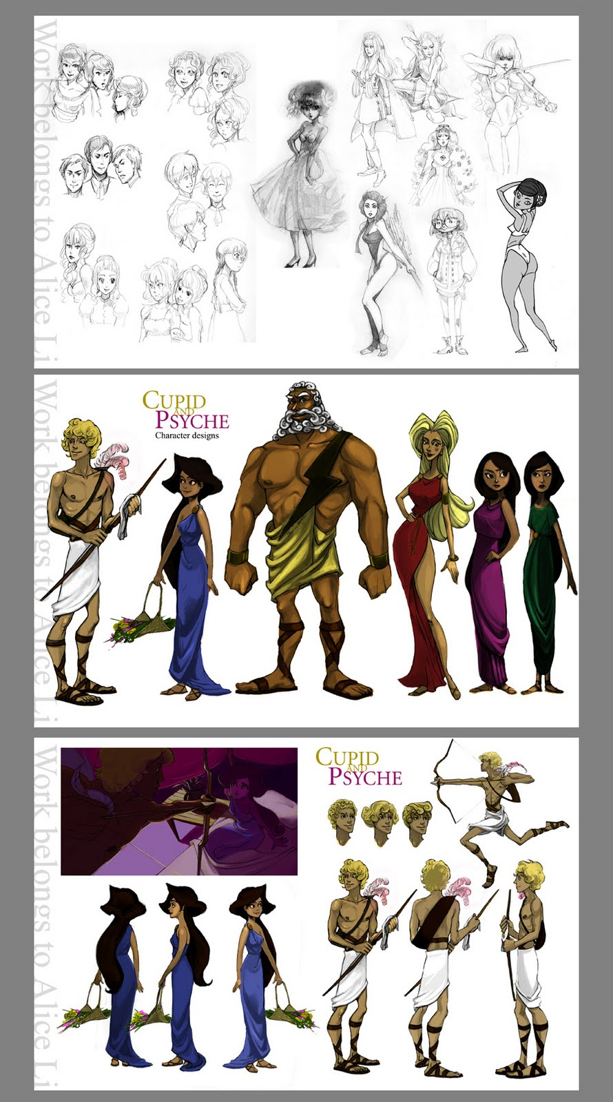 Disney Character Design Internship : Alice drawing disney summer art associate portfolio