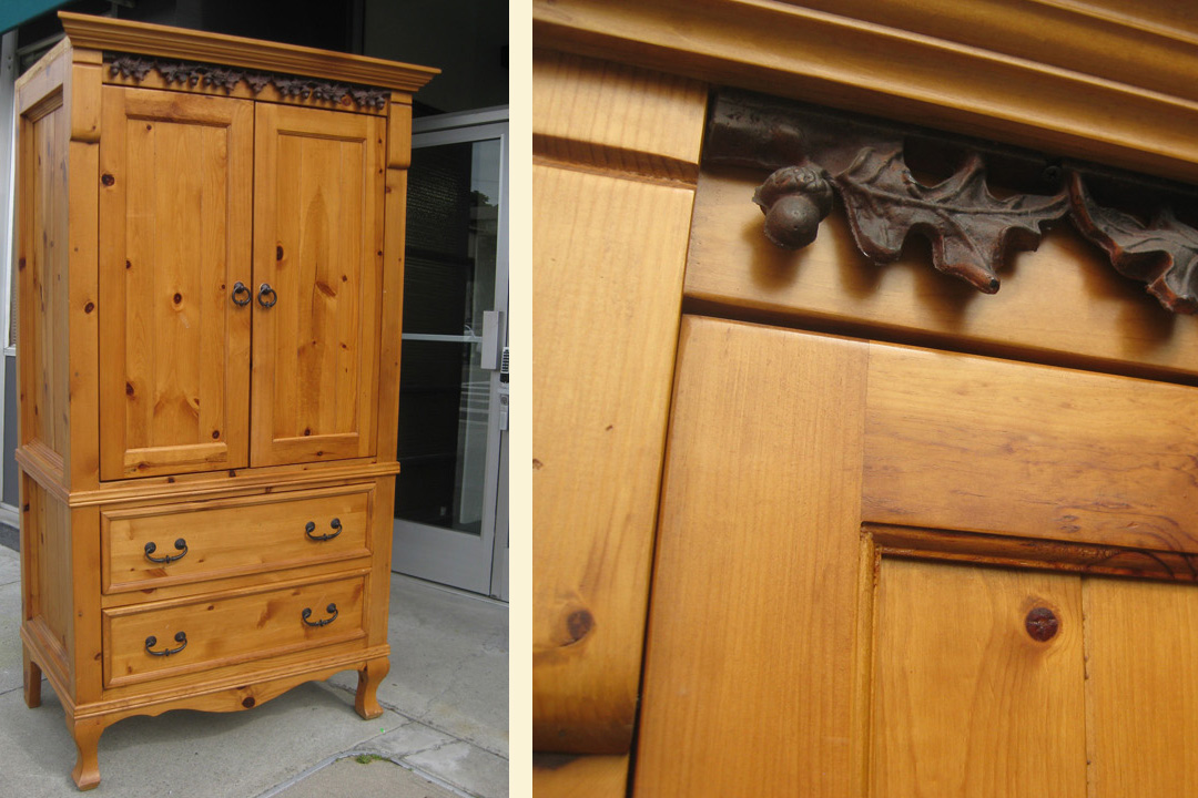 UHURU FURNITURE & COLLECTIBLES SOLD  Mexican Pine Television Armoire   -> Armoire Basse Télé