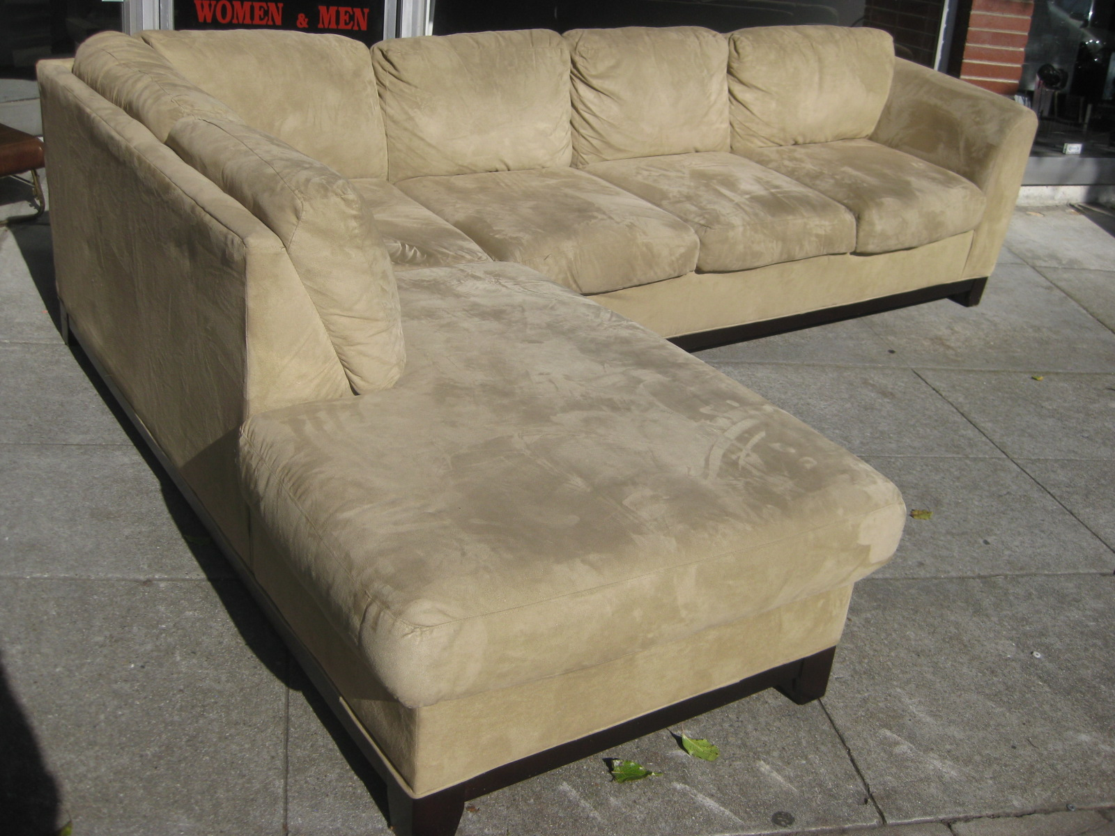Uhuru Furniture Collectibles Sold Microsuede Sofa Chaise Sectional 600