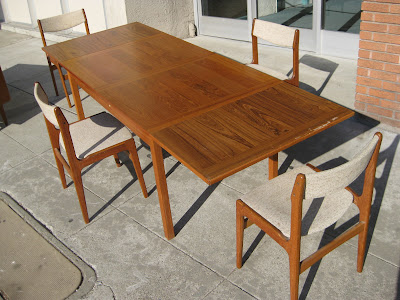 sold danish modern table 4 chairs 325