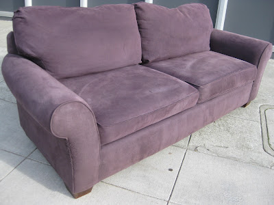 904 Portico Sofa in Eggplant Fabric - Armen Living - LC9043PU