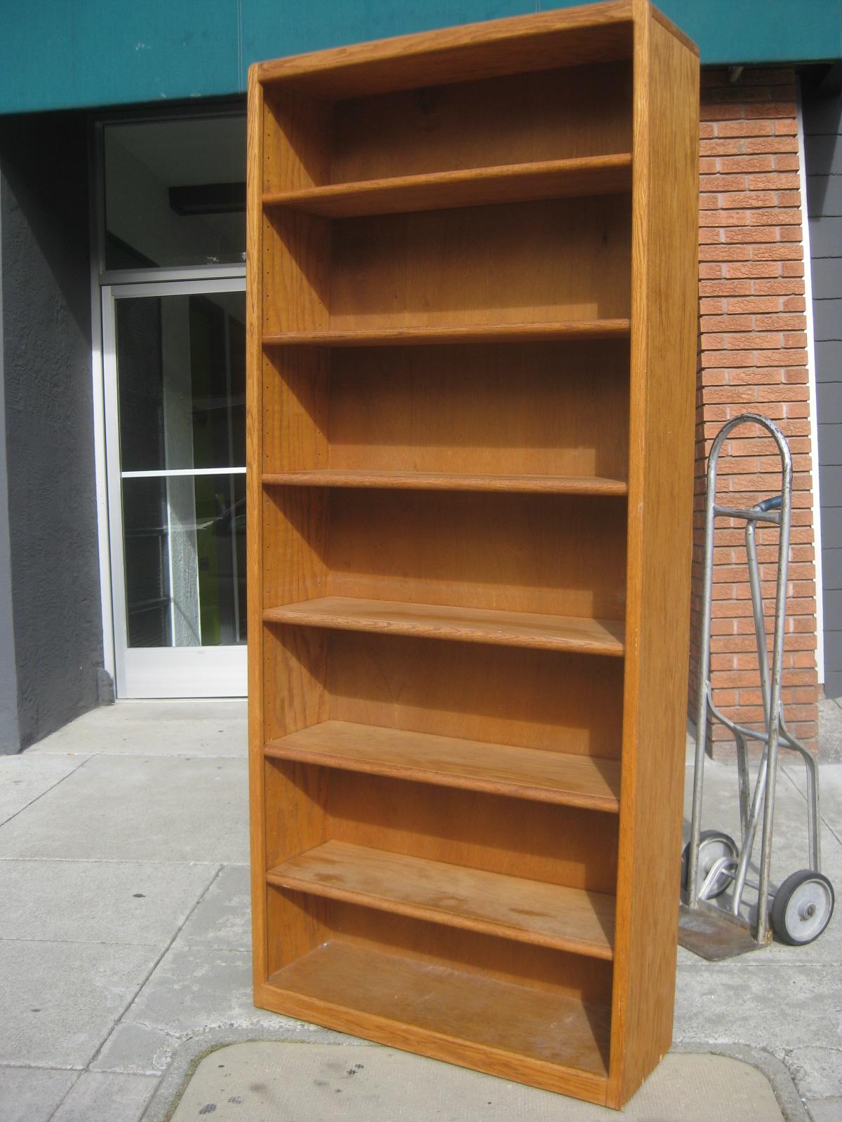 sold 7 tall oak bookshelves 90 each - Tall Bookshelves