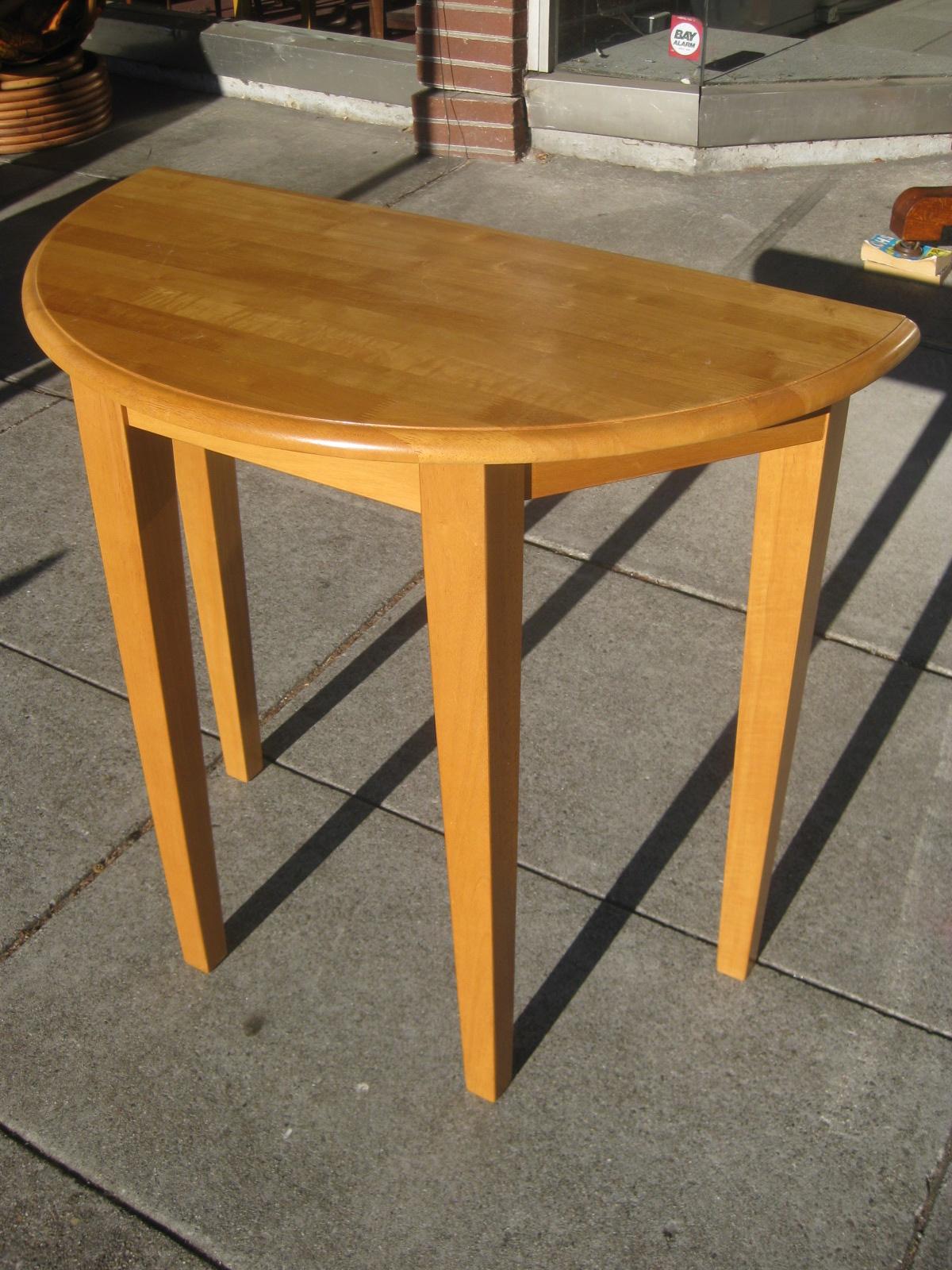 Uhuru furniture collectibles sold half moon entry table 50 - Half moon entry tables ...