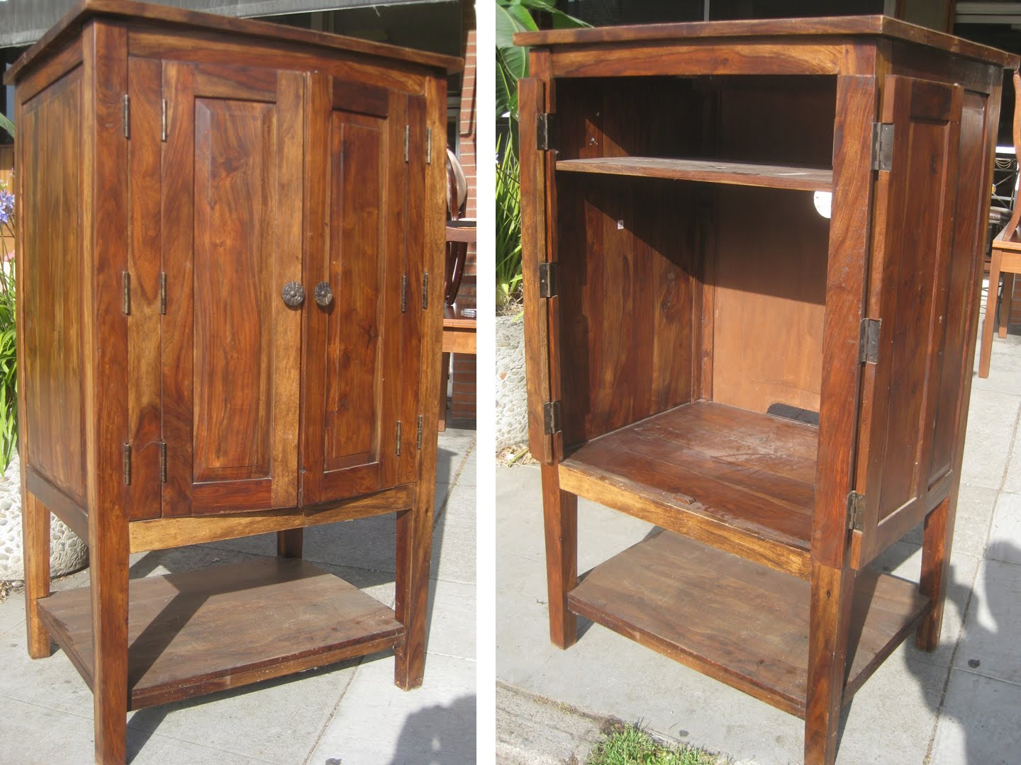 Amazing photo of UHURU FURNITURE & COLLECTIBLES: SOLD Teak TV Armoire $100 with #955E36 color and 1440x1080 pixels