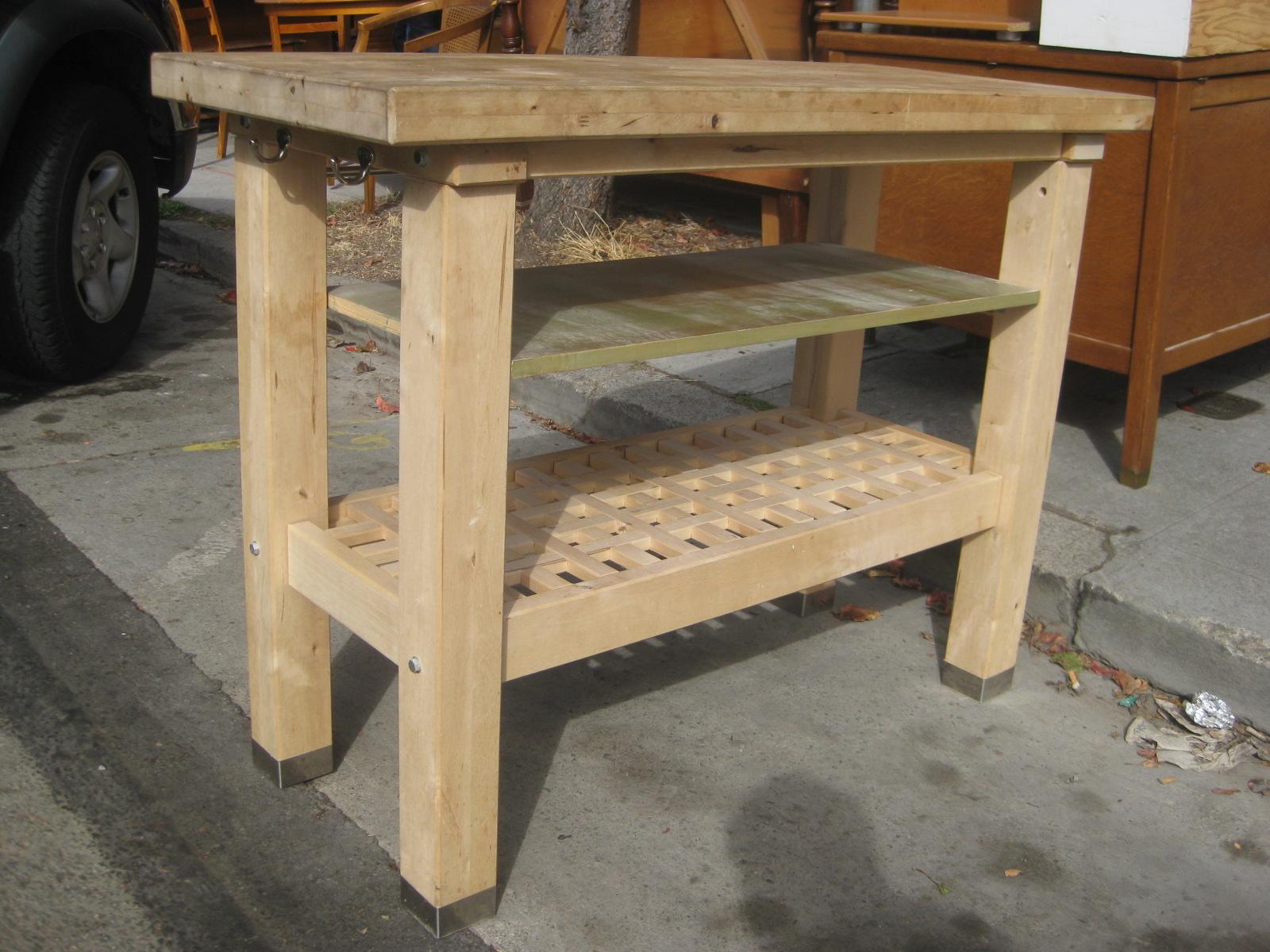 uhuru furniture collectibles sold butcher block