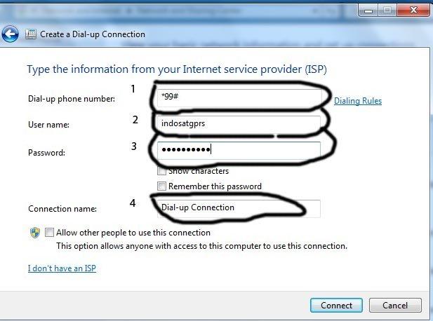 proses penyambungan koneksi internet seperti gambar di bawah ini